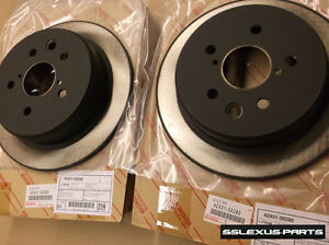 Lexus IS250 (2006-2013) OEM Genuine REAR BRAKE ROTOR SET 42431-30280 (x2)