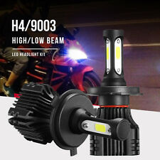 2X 220W CREE H4 HB2 9003 22000LM Motorcycle Bike LED Headlight 6500K Bulb HI-LO
