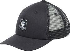 Elemento para hombre de malla de béisbol Cap. icono curvo Pico Camionero Sombrero Negro 7W TA3 2204