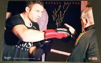VITALI KLITSCHKO HEAVYWEIGHT BOXING CHAMP SIGNED LARGE PHOTO POSTER COA K00196