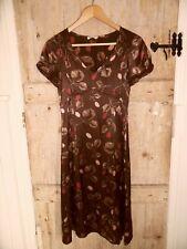 Marilyn Moore Limited Series Brown Floral Silk Dress UK 10