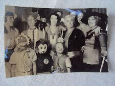 Halloween Children in Costume Party Black & White Photo 1930s Original A