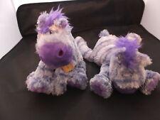 """Anna Club Plush Soft/cuddly Jolly Horse Purple 8"""".37.260 BNWT"""