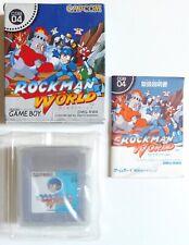 ROCKMAN WORLD MEGAMAN Nintendo Game Boy GB Jap Japan