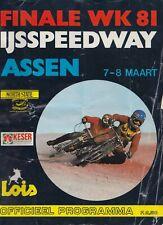 FINALE WK 81 IJSSPEEDWAY ASSEN - SPEEDWAY PROGRAMME.