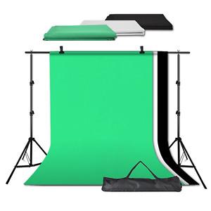 Backdrop Studio Kit Fondo Foto Soporte Set Negro Blanco Pantalla Verde