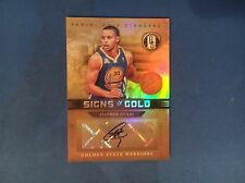 PANINI GOLD STANDARD  SIGNS OF GOLD STEPHEN CURRY AUTOGRAPH #SG-34 #09/49