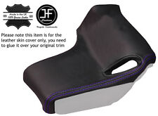 PURPLE STITCH 2X SEAT BELT PILLAR LEATHER COVER FITS CORVETTE C6 05-13 CABRIO