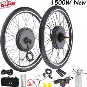 """NEW 26"""" Electric Bicycle E Bike Conversion Kit Front Rear Wheel 500W /1500W UK"""