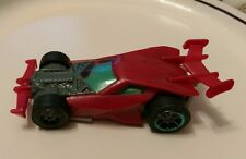 2013 Mattel Hot Wheels Plastic Toy Car McDonald's Happy Meal Red Sports Rod htf