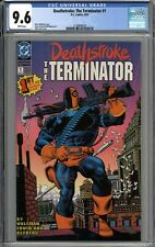 Deathstroke the Terminator #1 CGC 9.6 NM+ WHITE PAGES
