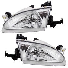 1998 1999 2000 TOYOTA COROLLA HEAD LAMPS LEFT & RIGHT PAIR