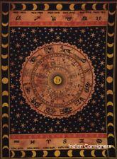 Small Tapestry Poster Zodiac Sunsign Orange Cotton Throw Dorm Decor Wall Art