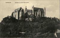 Marburg an der Lahn Hessen s/w AK Schloss von der Sternwarte gesehen ungelaufen