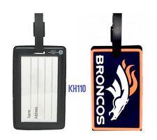NFL Denver Broncos Soft Luggage ID Bag Tags /Gym bag / Golf bag