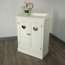 Crema cuore di legno credenza stile shabby francese chic bagno cucina corridoio