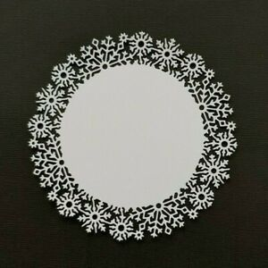 Die Cut Carnation Craft Round Doily Frame Card Toppers Card Making Scrapbooking