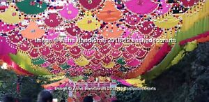 Hippie Indian Wall Hanging Decorative Props Party Wedding Decorative Pankhi 20pc
