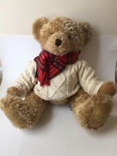 Harrods 2002 Christmas Bear Foot Dated Limited Collectible Plush
