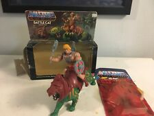 80's He-Man & Battle Cat Complete Vintage MOTU W/ Packaging! Moc/mib