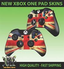 Mando Para Xbox One Pad pegatina bandera británica Grunge Estilo Skins x2