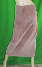 OXBOW T 36 US 4 UK 8 jupe longue velours fines côtes vieux rose skirt falda