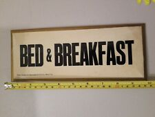 Abercrombie& Fitch Sign Bed & Breakfast