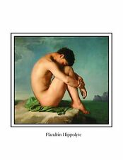 NUDE YOUNG MAN SITTING POSTER MASCULINE NAKED BEAUTY ART GAY INTEREST PRINT GIFT