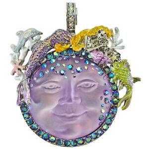 Kirks Folly Mermaid Goddess Seaview Moon Magnetic Enhancer sterling silvertone