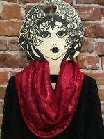 INC Red Liquid Shine O/S Infinity Scarf New Shimmer International Concepts
