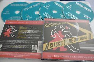 CLASSIC CRIME SHORT STORIES 4 CD AUDIO 5 HR UNABRIDGED CSA WORD PATRICK MALAHIDE