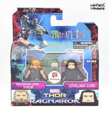 Marvel Minimates Walgreens Thor Ragnarok Movie Roadworn Thor & Civilian Loki