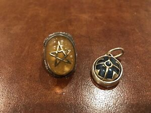 Original Alex Streeter Angel Heart Amber Ring Size US 6-7 And Pendant Combo