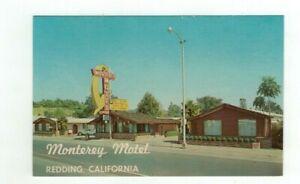 "CA REDDING California vintage 1969 post card ""Monterey Motel"""
