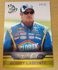 2012 PRESS PASS NASCAR PURPLE #/35 BOBBY LABONTE SPRINT CUP CLOROX TOYOTA CAMRY