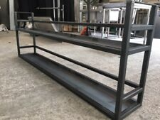 More details for mild steel ovehead bar shelving and display gantry