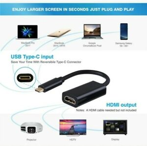Type C USB-C 3.1 to HDMI Adapter Cable Converter For smart TV and monitors