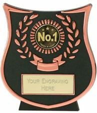 Emblems-Gifts Curve Bronze No 1 Trophy With Free Engraving