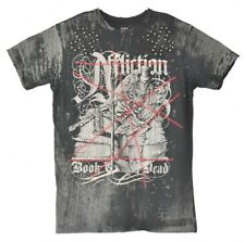 Affliction T Shirt Mens Large Black Distressed Studded Book Of The Dead a16