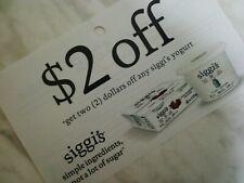 SAVE on  SIGGI'S YOGURT products  10x  $2.00  (1231)