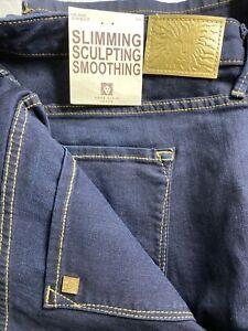 Anne Klein Laguna Slim Boot Dark Blue Jeans Size 20W Tall High Rise $99 NEW