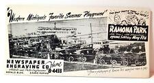 1920 Ramona Park, East Grand Rapids, Michigan, ink blotter ad, old cars, Egr
