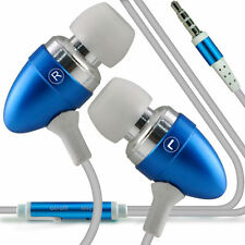 Twin Pack - Baby Blue Handsfree Earphones With Mic For Samsung Galaxy S3