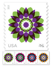 USPS New 46-Cent Kaleidoscope Flowers Self-Adhesive Stamp Coil of 10,000