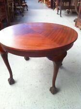 ANTIQUE STYLE MAHOGANY COFFEE TABLE RAISED ON QUEEN ANNE LEGS  BALL & CLAW FEET