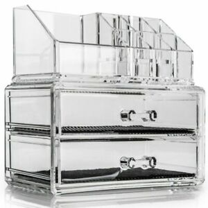 Cosmetic Makeup & Jewellery Organiser Clear Acrylic 20 Section Holder Storage
