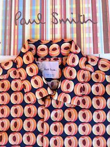 PAUL SMITH Men's Shirt Size S - Peach Pattern Beautiful Paul Smith Sample? RARE