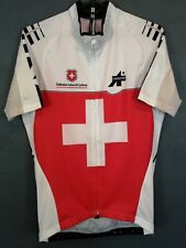 MEN'S ASSOS OF SWITZERLAND SWISS CYCLING BICYCLE SHIRT JERSEY MAILLOT SIZE L 4