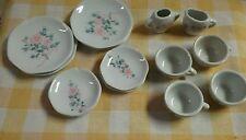 Vintage Childs Porcelain Tea Set-ROSES-14 Pieces-Honghua Craft-China