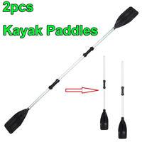 """210cm/82"""" Black Boat Oars Double-ended Kayak Paddles Float Raft Canoe Detach"""